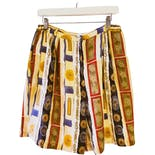 90's Multicolor Silk Printed Shorts by A.J. Christopher