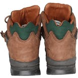 another view of 90's Men's Brown and Green Leather Waterproof Hiking Boots by Hi-Tec