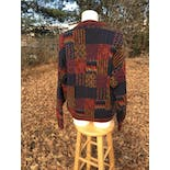 another view of Multicolor and Print Patchwork Sweater by Mondo di Marco