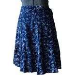 80's/90's Navy Blue Floral Skirt by Tracy Evans