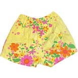 another view of 60's Yellow Flower Power Shorts