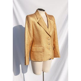 90's Gold Metallic Jacket by Yves Saint Laurent