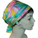 another view of 70's Rainbow Turban Hat