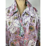 another view of 70's Sheer Pink Floral Blouse