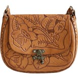 70's Hand Tooled Floral Shoulder Bag