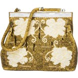 Gold Beaded Purse with Beaded Strap