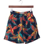 80's Multicolor Bird Print Shorts by Fred Prysquel