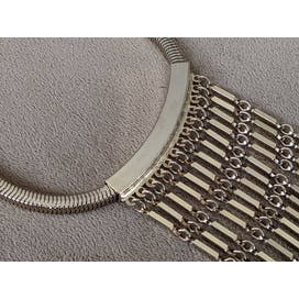 60's Gold Fringe Choker Statement Necklace
