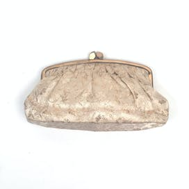 60's Gold Fabric Clutch