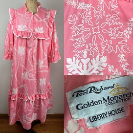 Pink Ruffled Maxi Dress by Tori Richardson Golden Monarch Collection
