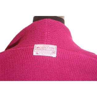 80's Pink Double Breasted Knit Cropped Sweater by Pendleton