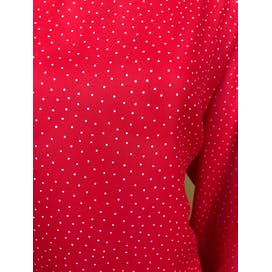 80's Red and White Polka Dot Long Sleeve Blouse by Chaus