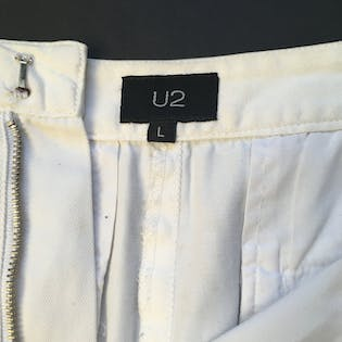 90's Paint Splattered Pencil Skirt by U2