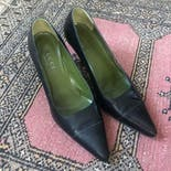 another view of 80's Black Heels by Gucci