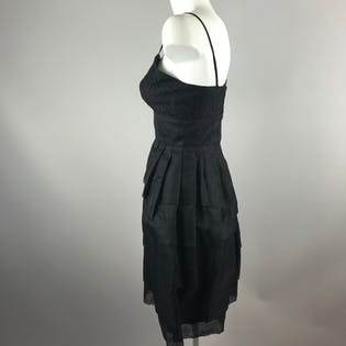 50's Mini Ruffle Prom Dress by Andree Gay