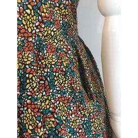 50's Zip Front Multicolor Stained Glass Print Dress by Kay Whitney
