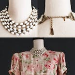 another view of 40's 5-Strand Collar Necklace by Monet