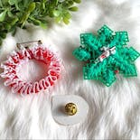 another view of Bundle of Three Christmas Brooches