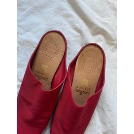 Cherry Red Mules