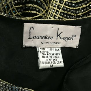 80's Black And Gold Knit Jacketby Laurence Kazar