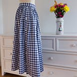 another view of 80's Preppie Country Blue And White Checkered Skirt by Laura Ashley