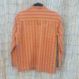 another view of 60's Orange and Red Geometric Brocade Button Down by Charm of Hollywood
