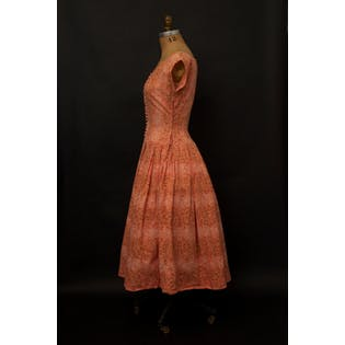 50's Peach Party Dress