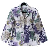 Lightweight Quilted Floral Jacket by Alfred Dunner