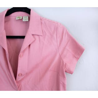 Short Sleeve Pink Button Up by Islander