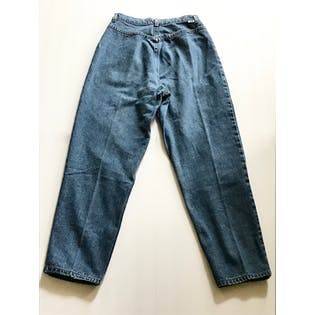 80's High Waisted Tapered Blue Jeans