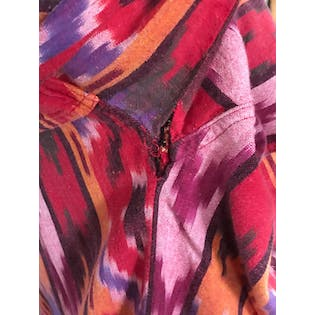 90's Red Orange and Purple Southwest Design Button Up by Activity Road