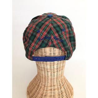 90's Green and Red Plaid Golfing Mickey Hat
