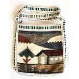 another view of Multicolor Peruvian Woven Wool House Design Crossbody