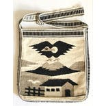 another view of Beige Peruvian Woven Wool Nature Design Crossbody
