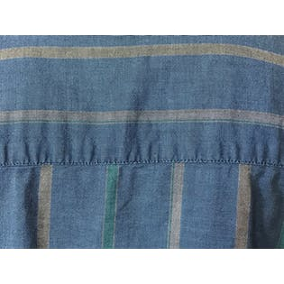 90's Blue and Green Striped Button Up by Manhattan