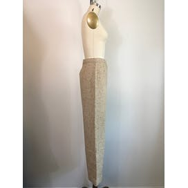 70's Oatmeal Tweed High Waisted Wide Leg Trousers