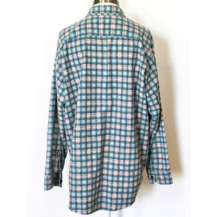 90's Blue and Red Plaid Long Sleeve Button Up by David Taylor