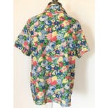 another view of 80's/90's Multicolor Floral Print Short Sleeve Button Up by Blair
