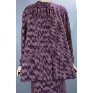 70's Knit Swing Coat Suit Set
