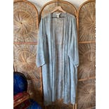 another view of 90's Pale Sheer Paisley Robe by Intimates Lane Bryant