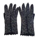 40's Handmade Blue and Silver Gloves with Crocheted Buttons by Fallala