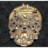 another view of Silver Victorian Style Pendant