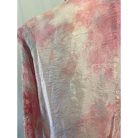 80's Pink Tie Dye Two Piece Skirt Set