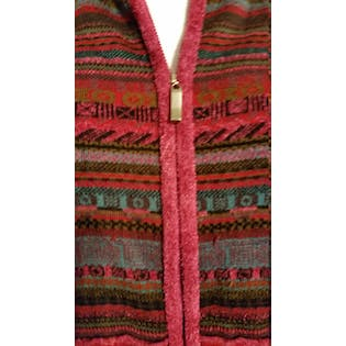 Red Multi Print Zip Up Vest by Coldwater Creek