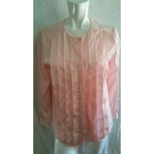 Light Pink Pleated Floral Button Up by Alexa