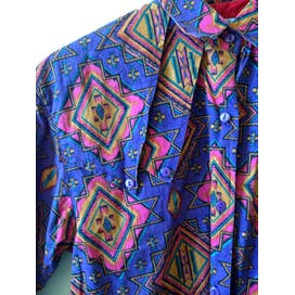 90's Southwestern Aztec Navajo Button Up Shirt by Adobe Rose