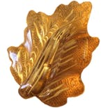 Carved Bakelite Leaf Brooch
