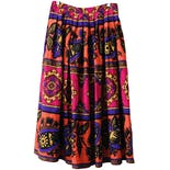 70's Made in Italy Tapestry Paisley Print Wool Circle Skirt