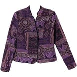 Multi Patterned Purple Jacket