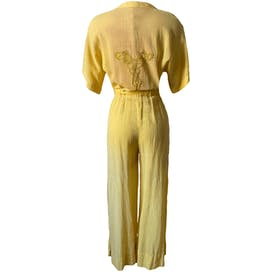 70's Canary Yellow Jumpsuit